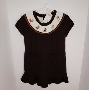 Gymboree Sweater Dog Dress NEW 3T